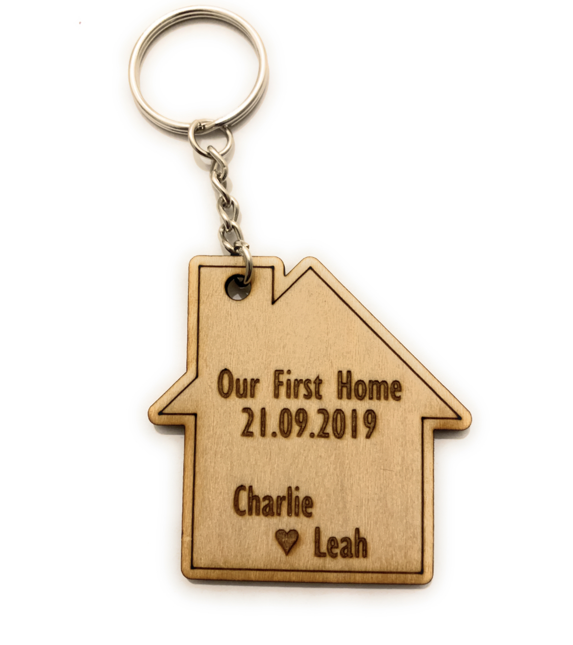 Personalised Wooden Our First Home Keyring Wall Plaque Keys Holder House Warming